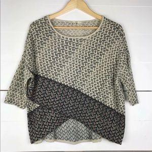 Anthropologie moth oversized knit tribal sweater
